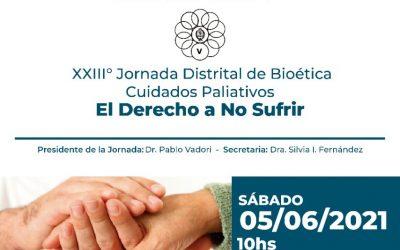 El Dr. Gustavo De Simone participó de la XXIII Jornada Distrital de Bioética y Cuidados Paliativos